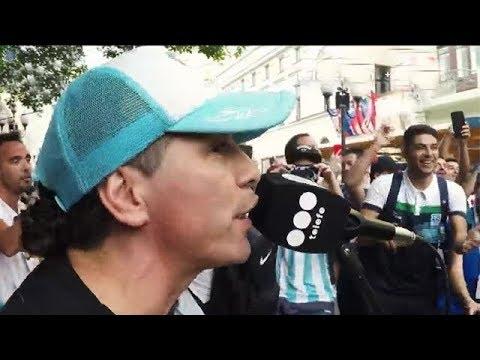 Fiesta argentina en una peatonal rusa con Pablo Lescano - Peligro Sin Codificar 2018