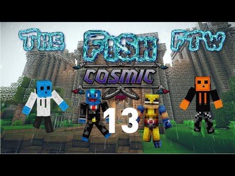 CosmicPVP factions Vanilla #13 1v4 and a hacker!