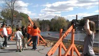 Catapults And Toy Wagon Run At The Goffstown Giant Pumpkin Regatta