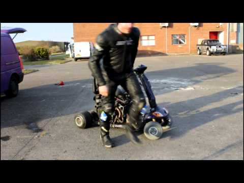 Garage Insanity 600CC Mobility Scooter Testing