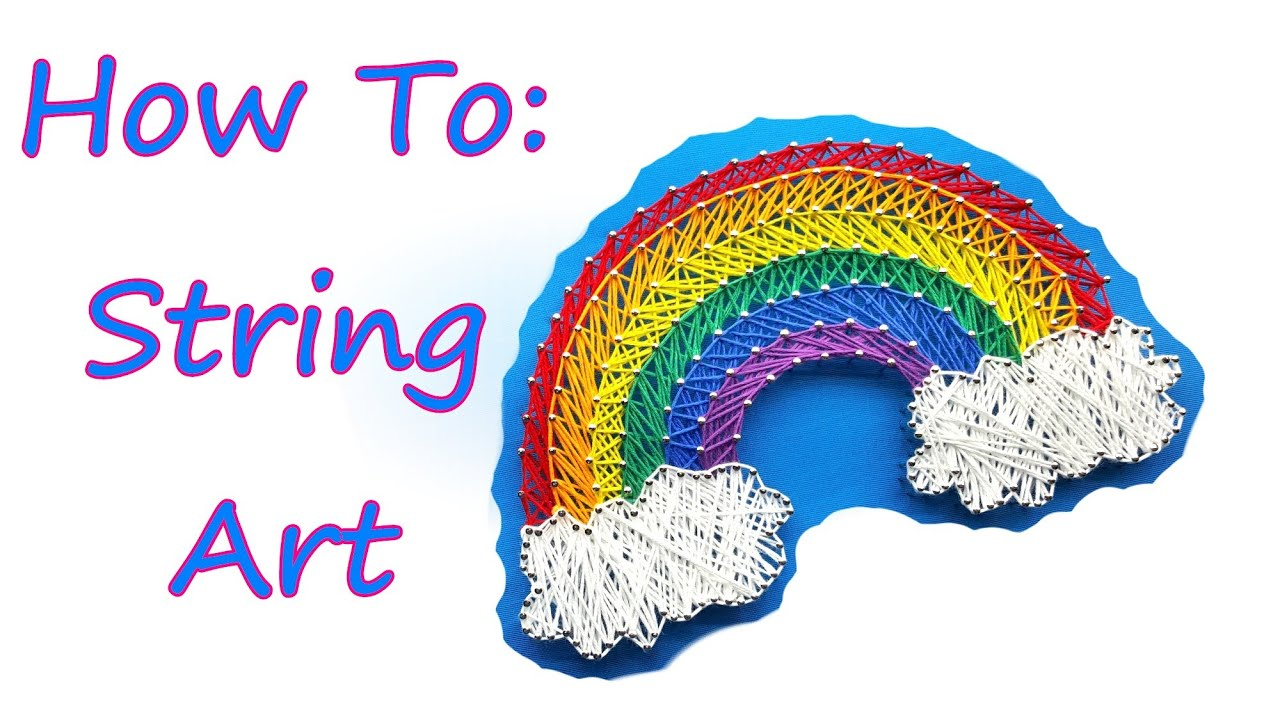 How to string art tutorial by feelinspiffy youtube baditri Image collections