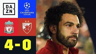 Mo Salah trifft doppelt bei Reds-Kantersieg: Liverpool - Roter Stern 4:0 | UEFA CL | DAZN Highlights