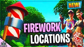Launch FIREWORKS found along the River Bank 14 Days of Summer Challenges Fortnite Location Guide