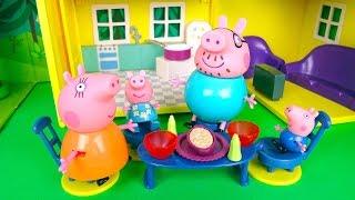 Свинка Пеппа джордж играет в прятки