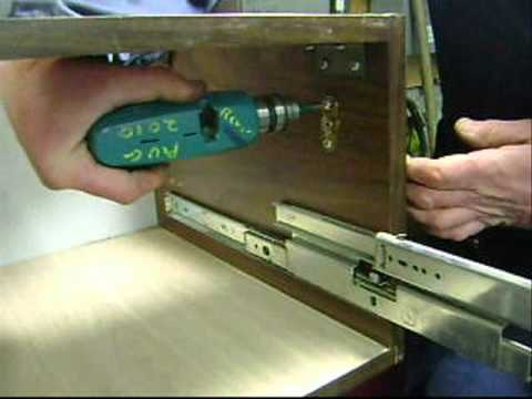 Install a simple plunger lock on a wood drawer  YouTube