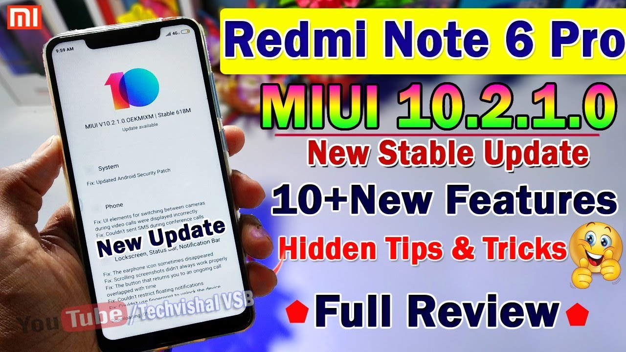 MIUI 10 2 1 0 Stable Update Redmi Note 6 Pro Full Review | 10+ Hidden  Features | Battery Fixed, 4K?