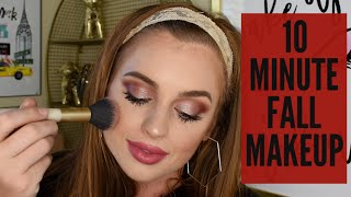 10 MINUTE EASY FALL MAKEUP LOOK | Girly and Berry Makeup