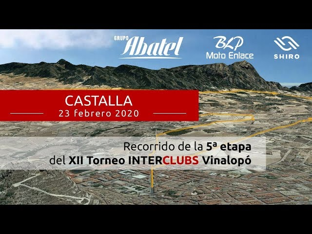 Castalla. Quinta etapa Interclubs Vinalopó 2020
