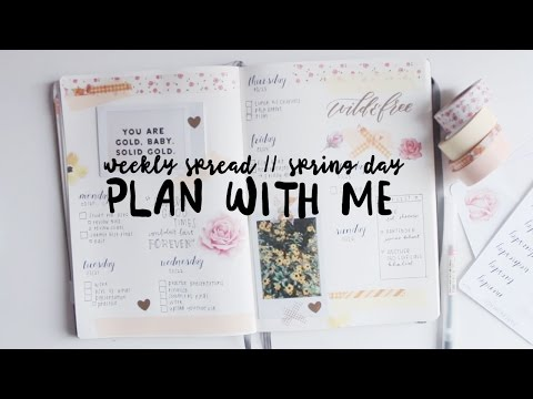 Download plan with me: spring day - weekly spread // bullet journal Mp4 baru