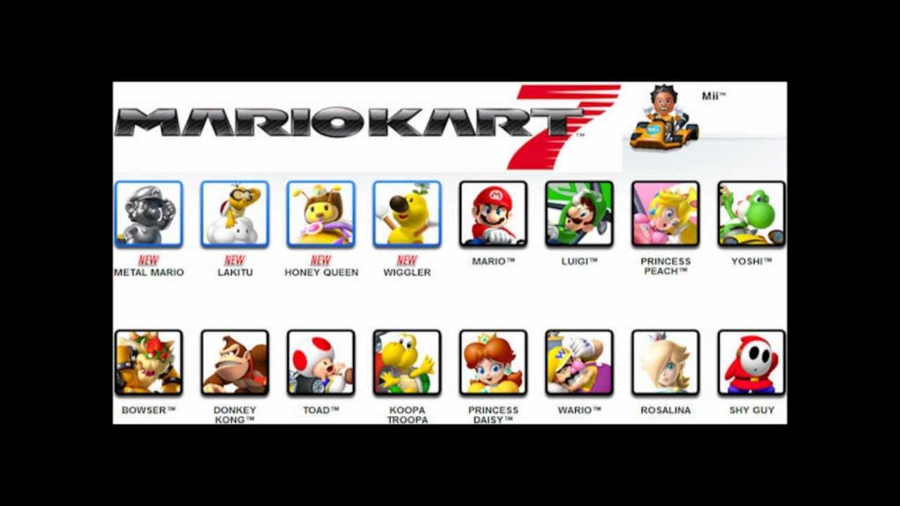 Mario Kart 7 Charaktere Youtube