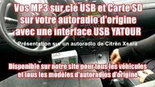 Lire des MP3 sur clé USB ou carte SD avec votre autoradio d
