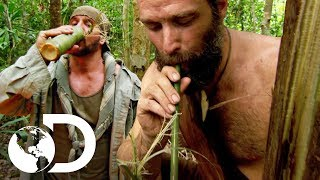 ¡Matt le da agua con saliva a Joe! | Desafío x 2 | Discovery Latinoamérica
