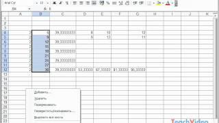 работа с листами в Microsoft Excel 2003 (39/49)