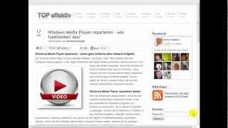 Windows Media Player reparieren - wie funktioniert das?