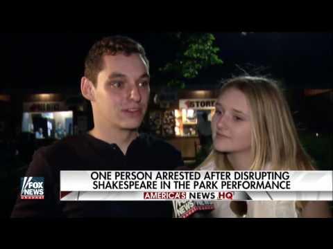 Protesters Disrupt Shakespeare In The Park's 'Julius Caesar'