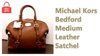 Michael Kors Bedford Medium Leather Satchel 35H2GBFS2L