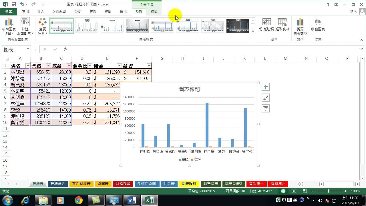 08.快速製作圖表與自動統計分析(Excel 2013 讓數字會說話的密秘武器) - YouTube