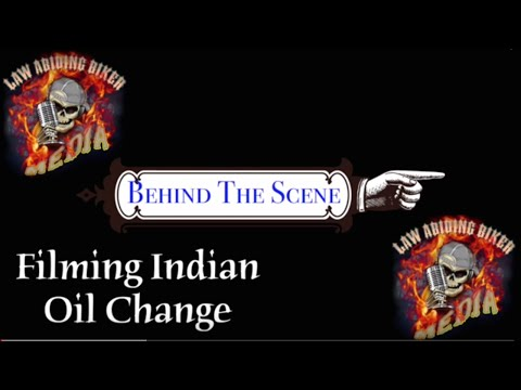Behind the Scenes Indian Oil Change & Maintenance-Law Abiding Biker Media