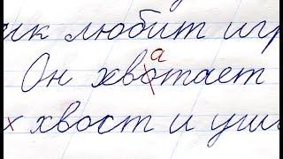 "3. Ребенок пишет диктант под диктовку 1-2 класс | ""Кот и собака"" |  32 слова"
