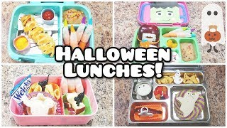 Halloween Kids School Lunches - Plus what she ate! - Week 9 -  Bella Boo's Lunches