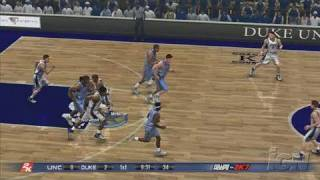 College Hoops 2K7 PlayStation 3 Gameplay - Duke Vs. UNC
