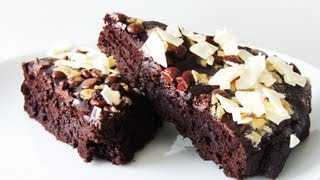 Double Chocolate Black Bean Brownies (flourless, Low-fat)