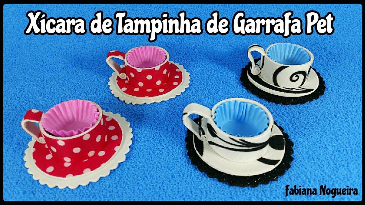 Aparador Negro Segunda Mano ~ IDÉIA com Tampinha de Garrafa Pet Forminha de Xícara u2615 ud83d udc95 YouTube