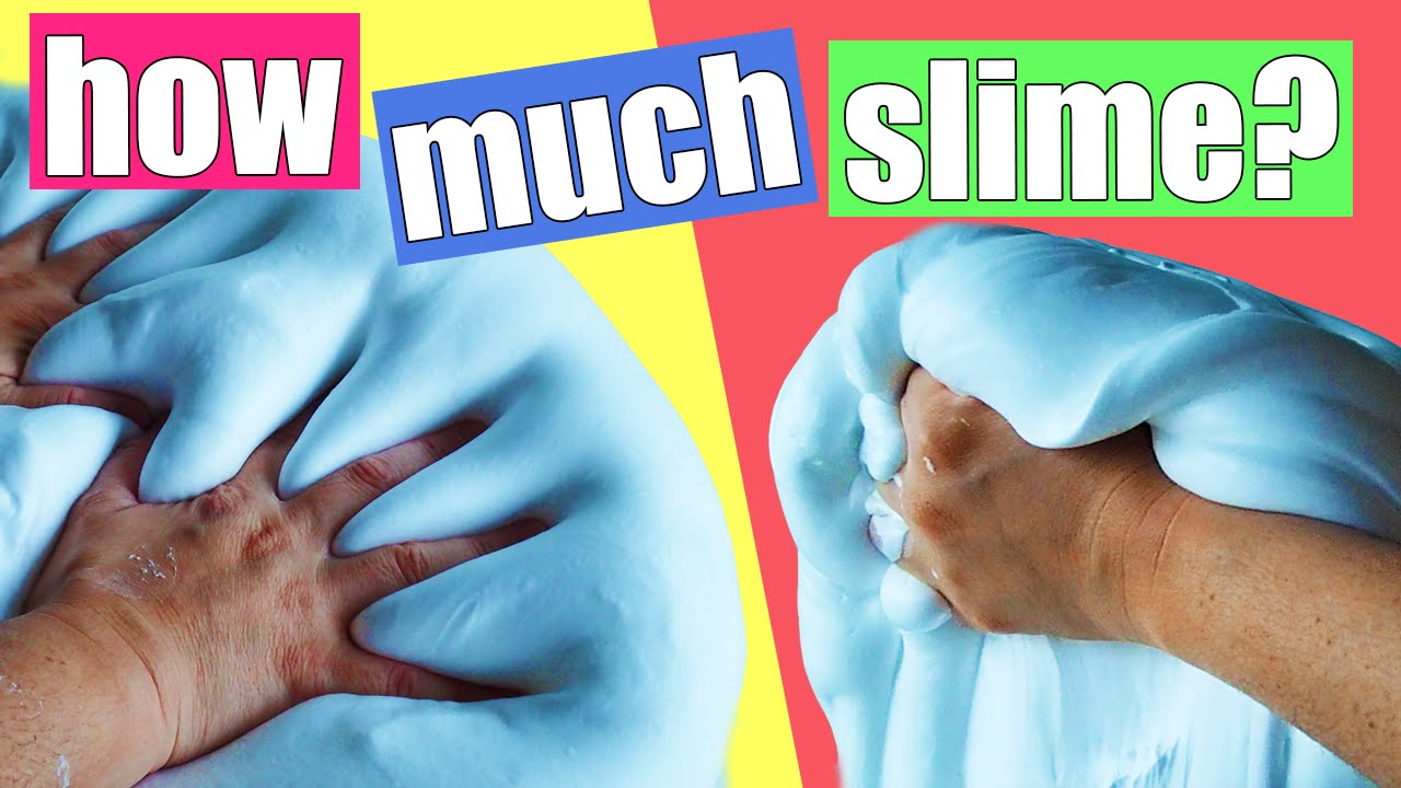How Much Fluffy Slime in 1 Can of Shaving Cream DIY GIANT Fluffy Slime by Bum Bum Surprise Toys