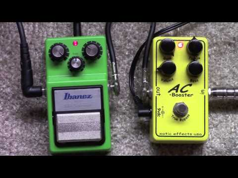 Ibanez Tubescreamer TS-9 Vs Xotic AC Booster Overdrive Pedal Shootout
