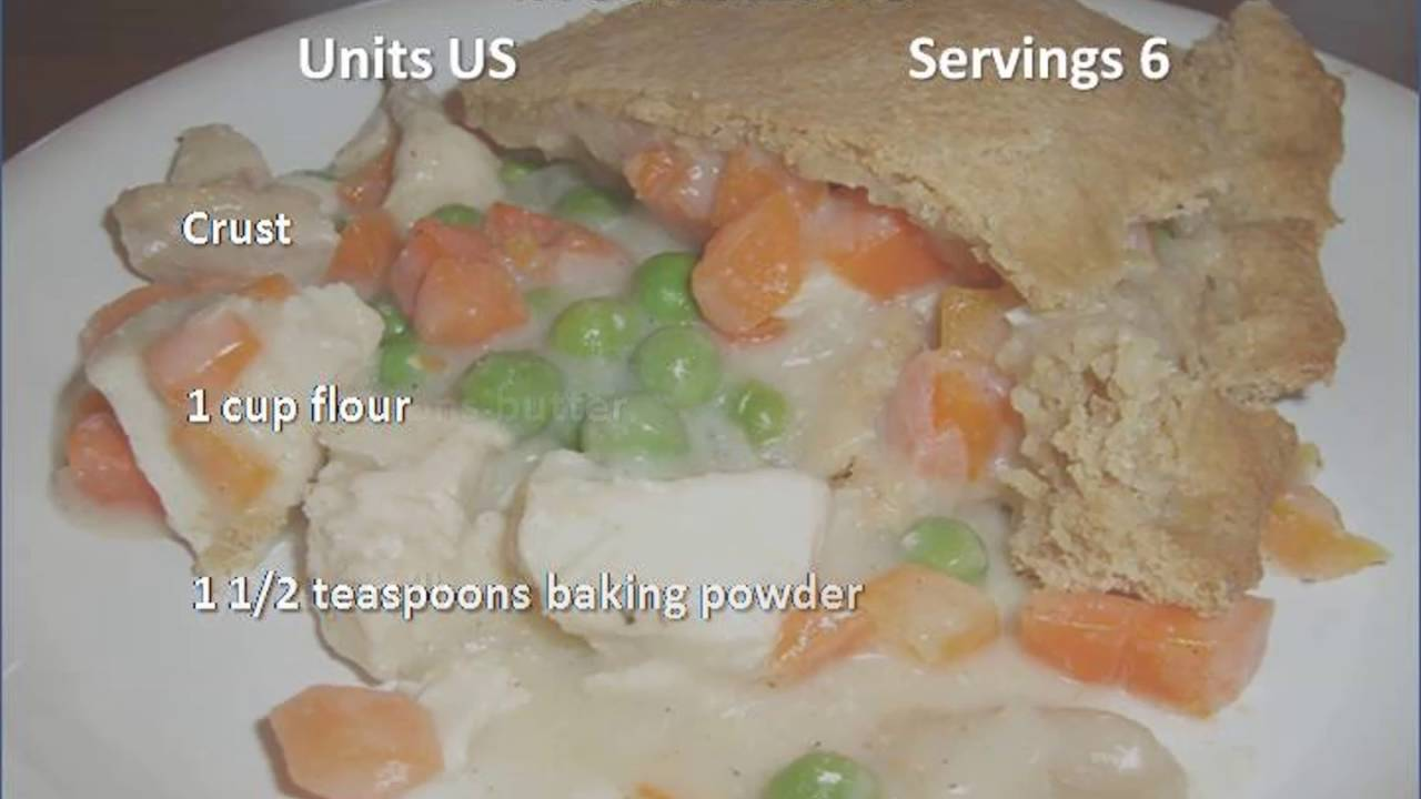Chicken Pot Pie With Biscuit Crust Recipe