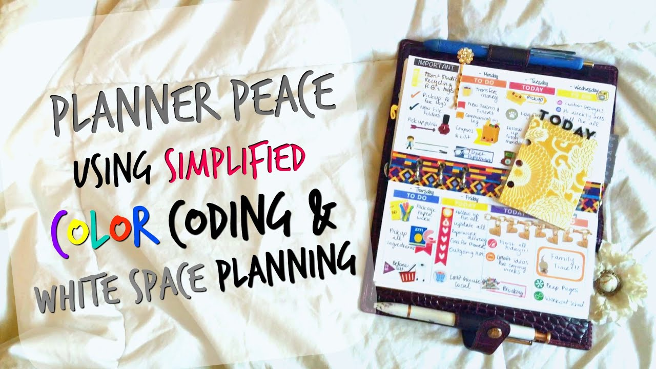 Tutorial: Color Coding And Functional Planning For White Space Planner  Peace   Personal Planner