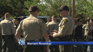 Local authorities collaborate on warrant-roundup