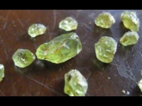 Crystal hunting!  In search of a facetable gem stone, (Peridot)
