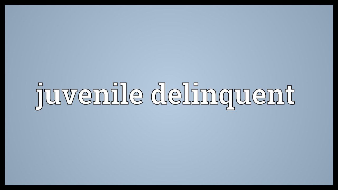 juvenile delinquent Juvenile delinquency, also known as juvenile offending, is participation in illegal behavior by minors (juveniles, ie individuals younger than the statutory age of majority.