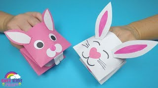 How to Make a Paper Bunny Hand Puppet | Easter Craft for Kids