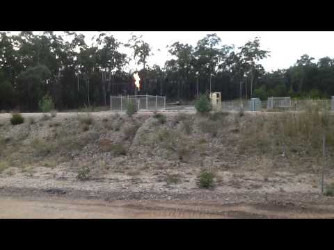 CSG Flare off QGC, QLD GAS FIELDS Coal Seam Gas