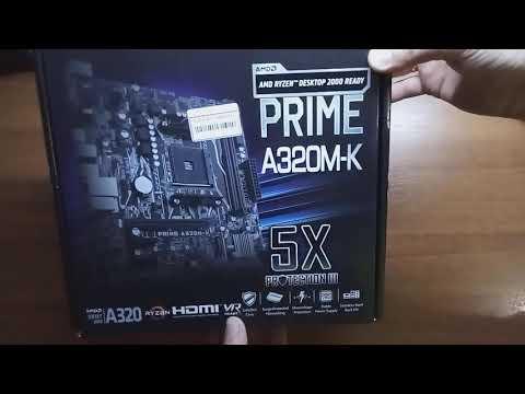 Материнская плата Asus Prime A320M-K (sAM4, AMD A320, PCI-Ex16)