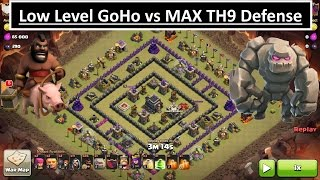 Low TH9 vs MAX TH9. 3 STAR Attack. Clash of Clans WAR. HOGS!