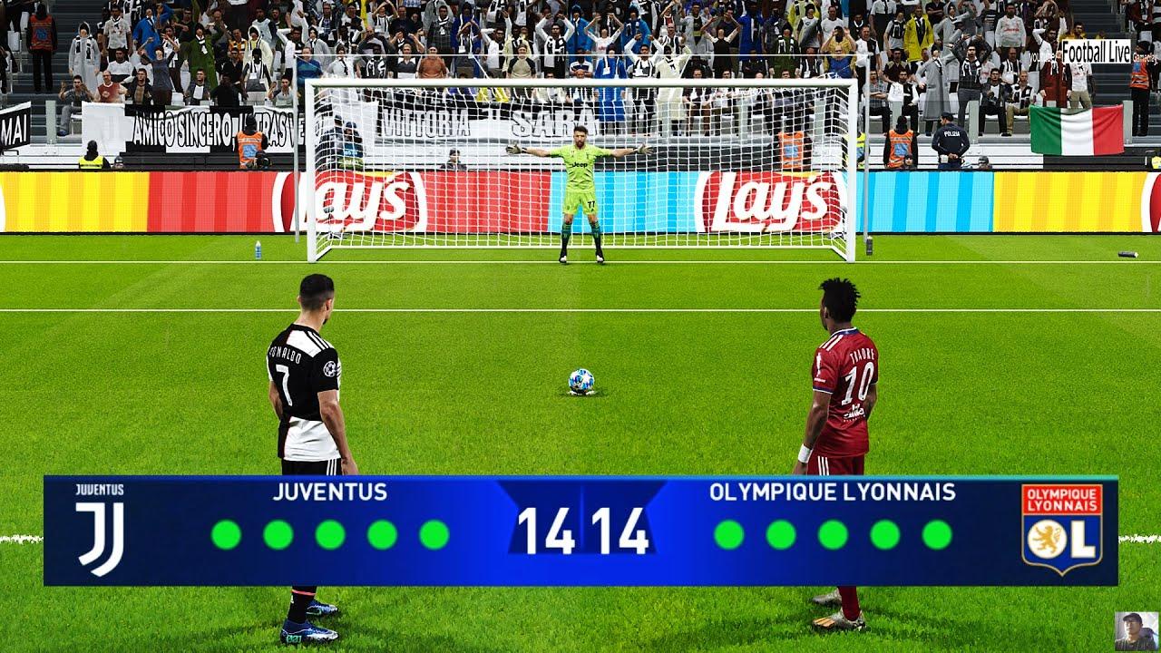 PES 2020 | JUVENTUS vs LYON | Penalty Shootout | UEFA Champions League UCL | C.Ronaldo vs Lyon