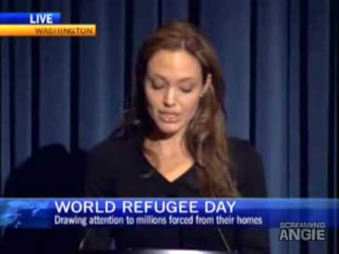 Angelina Jolie brings attention World Refugee Day 2009 emotional speech