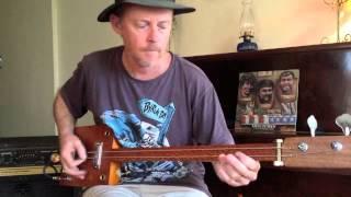 2 String Slide Cigar Box Guitar Bass