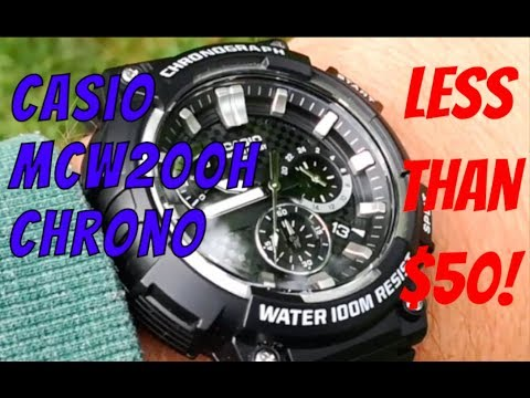 Review Casio MCW-200-H-1A Chronograph... And How To Use The Chrono