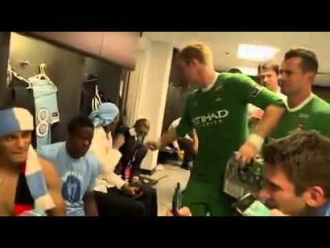 Fa Cup 2011 Manchester City Celebration Off The Pitch
