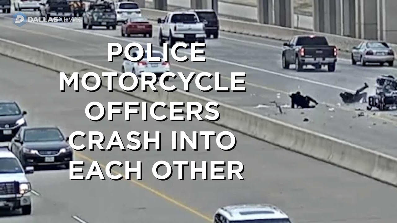 Video of collision between two Irving police motorcycles