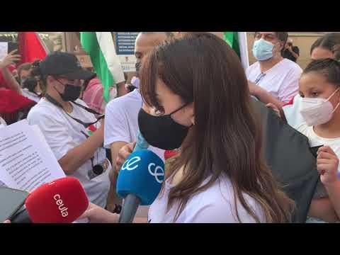Concentración a favor de la causa palestina en Ceuta