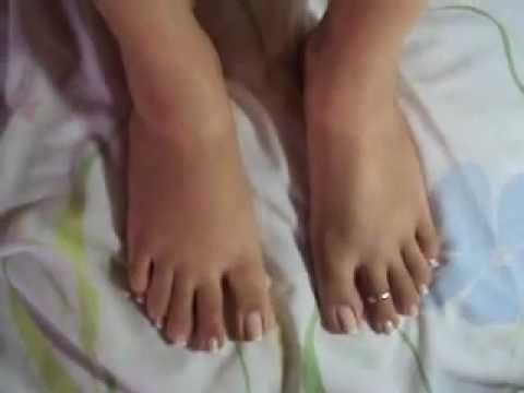 French pedicure..