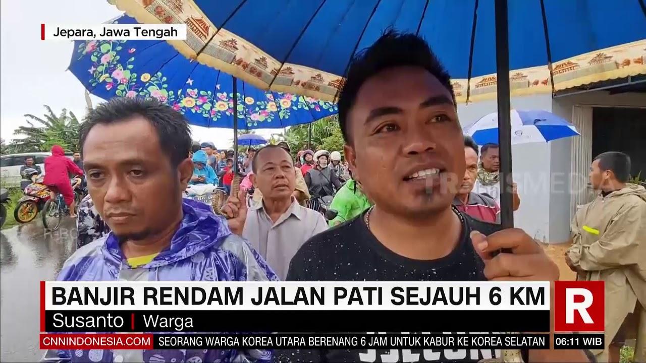 Banjir Rendam Jalan Pati Sejauh 6 Km   REDAKSI PAGI (25/02/21)