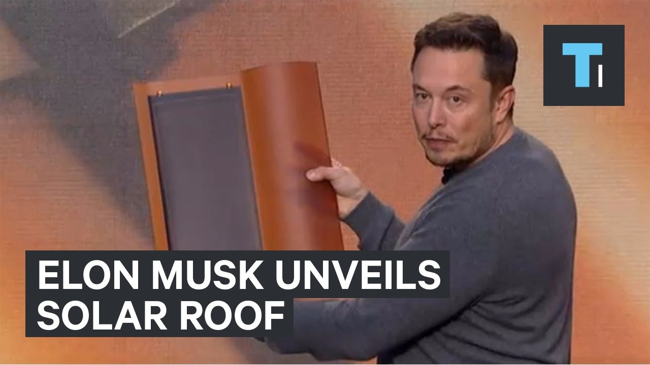 Elon Musk Unveils Solar Roof By Solarcity Youtube
