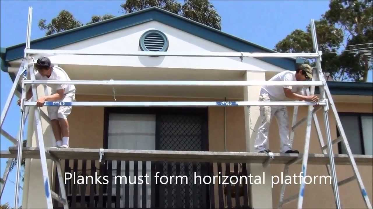Erecting Trestle And Plank Systems Youtube