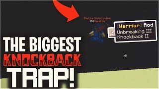 THE BIGGEST KNOCKBACK TRAP OF ALL TIME...   Minecraft Factions